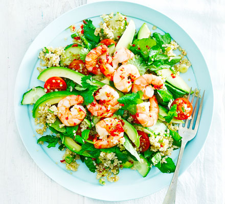 Asian prawn & quinoa salad
