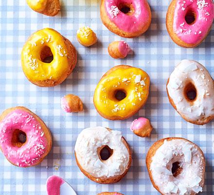 Coconut iced doughnuts