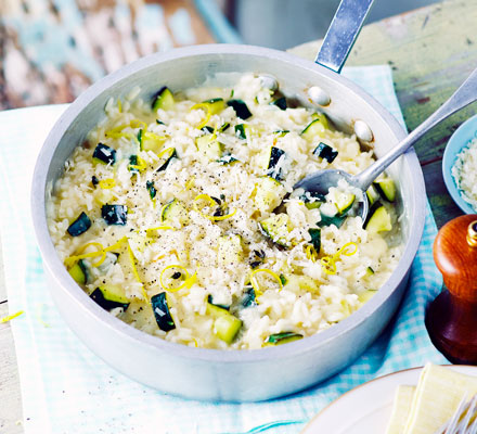 Courgette & lemon risotto