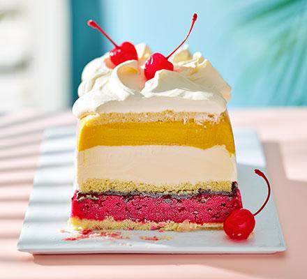 Club Tropicana ice cream cake