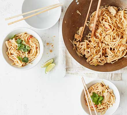 Spicy turkey noodles