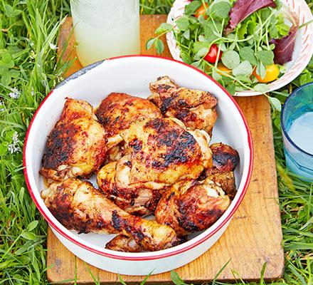 Sticky barbecue chicken