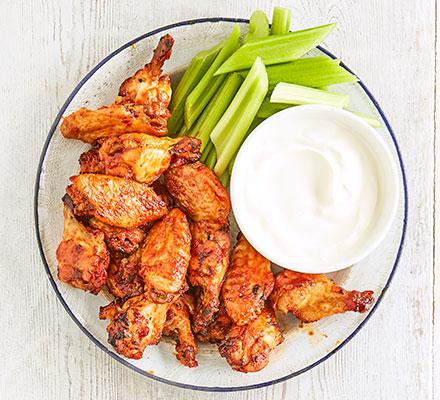 Chilli-maple chicken wings