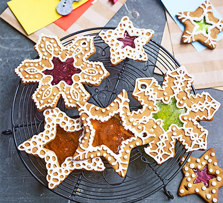 Gingerbread stained glass biscuits