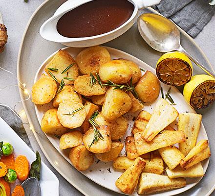 Golden goose fat potatoes & parsnips
