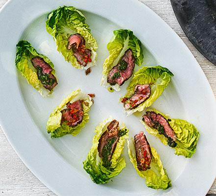 Steak lettuce cups