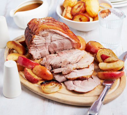 Roast pork & apples