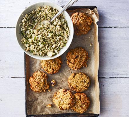 Baked falafel & cauliflower tabbouleh