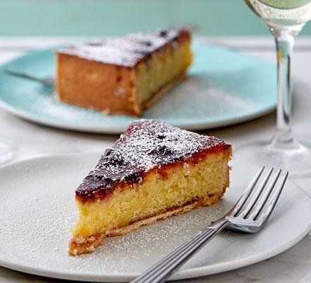 Amarena cherry & almond tart