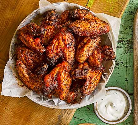 Maple-glazed hot wings