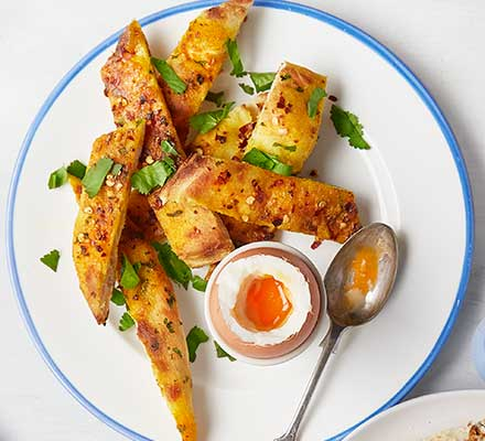 Turmeric & chilli butter naan soldiers