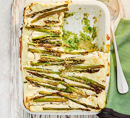Asparagus & broad bean lasagne