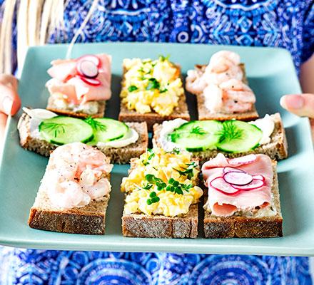 Loaded open sandwiches