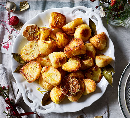 Lemon, garlic & bay roast potatoes