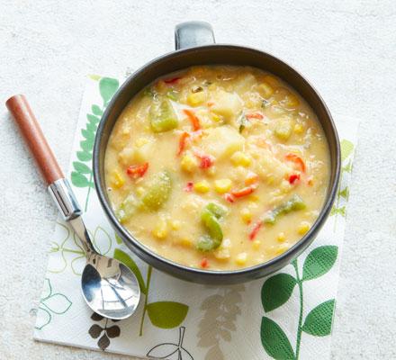 Corn & split pea chowder