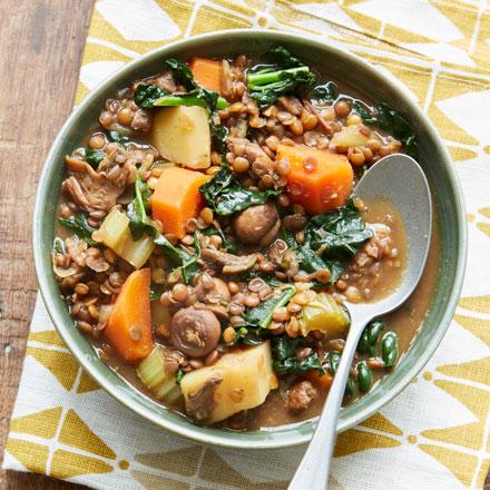 Hearty lentil one pot