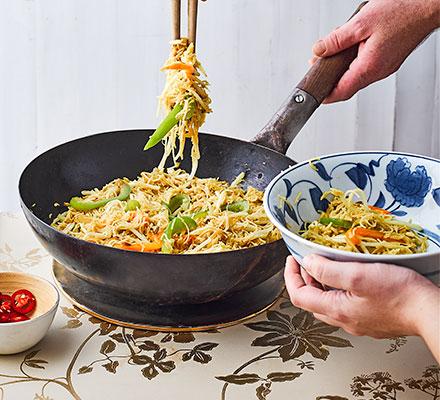 Easy Singapore noodles
