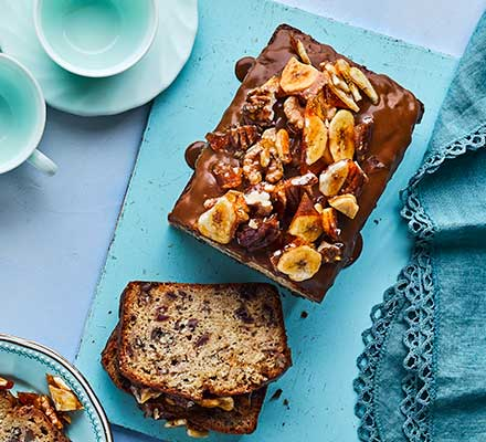 Sticky toffee banana bread