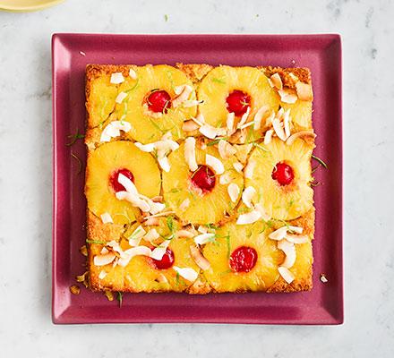Tropical upside-down cake