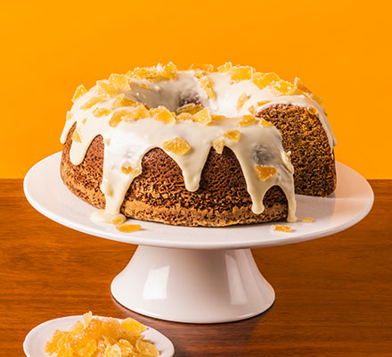Ginger & white chocolate cake