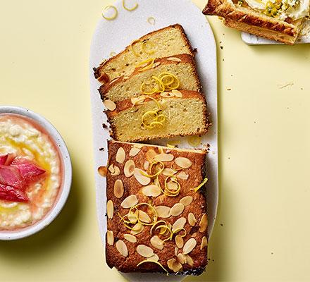 Lemon curd & orange cake