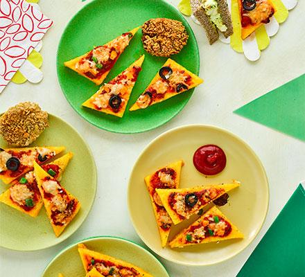 Mini polenta pizza bites
