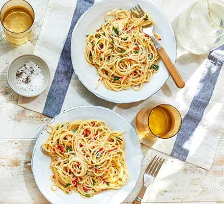 Amalfi lemon, chilli & anchovy spaghetti