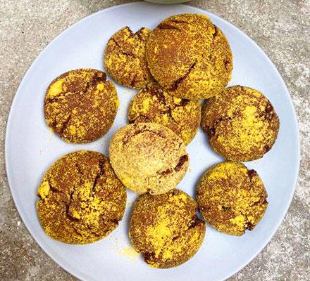 Chocolate orange fudge crinkle biscuits