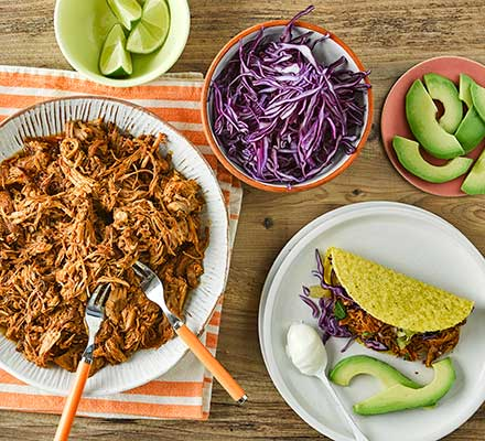 Pulled pork tacos with pineapple salsa