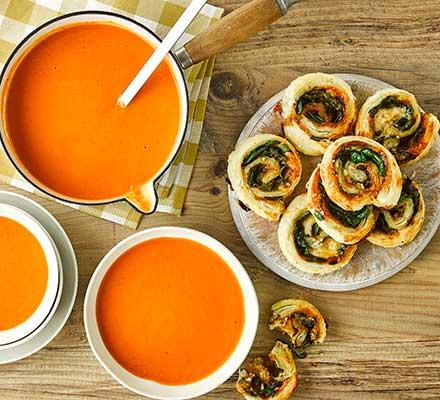 5-veg creamy tomato soup