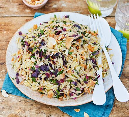 Herby orzo & lemon salad
