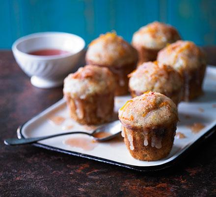 Blood orange & poppy drizzle muffins