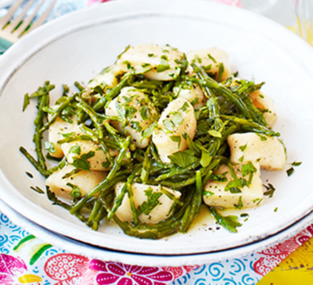 Gnocchi with parsley, butter & samphire