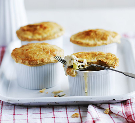 Chicken & leek pot pies