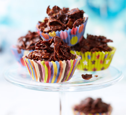 Cooking with kids: Chocolate cornflake cakes
