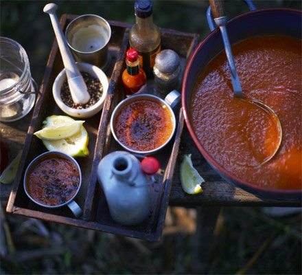 Hot Bloody Mary soup