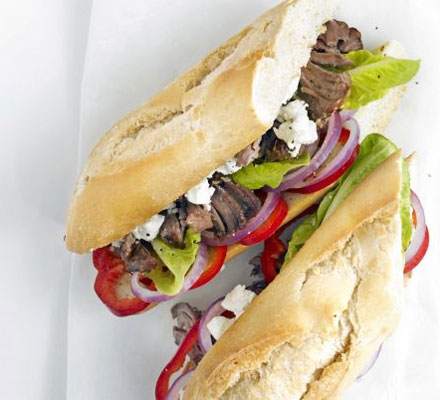 Greek lamb baguette