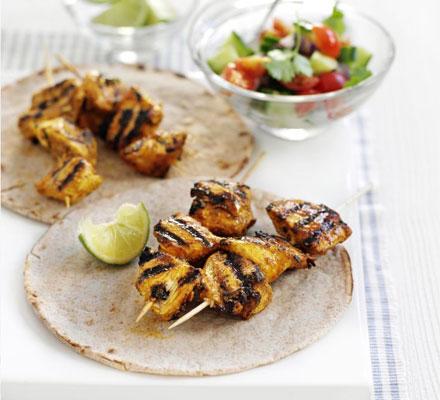 Chicken masala skewers
