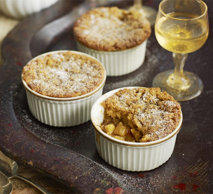 Ginger & caramel apple puddings