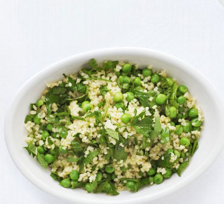 Garlic & herb bulgur wheat
