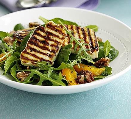 Halloumi Salad With Orange Mint Bbc Good Food Middle East