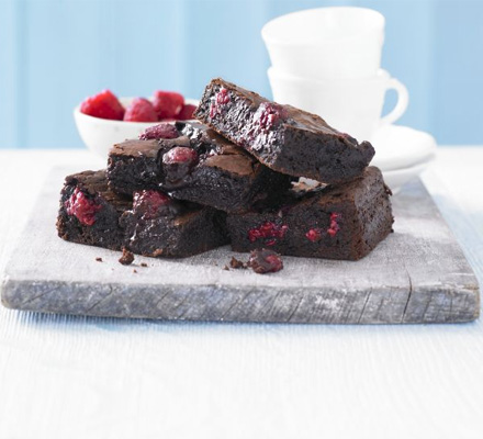 Best Ever Chocolate Raspberry Brownies Bbc Good Food Middle East