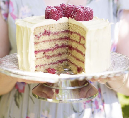 Raspberry spice cake