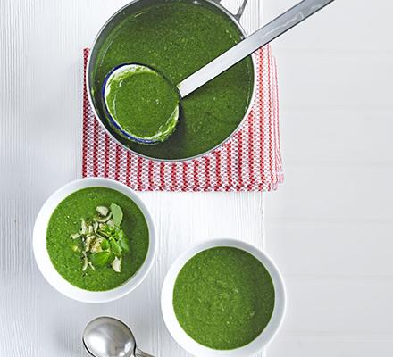 Watercress & artichoke soup