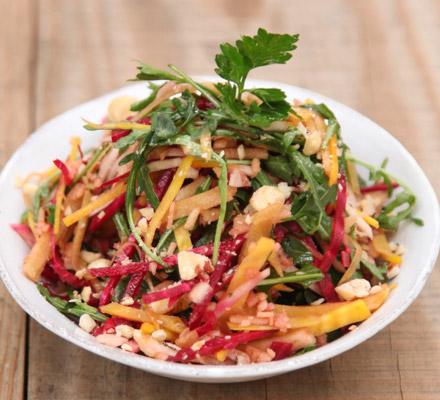 Raw beetroot salad