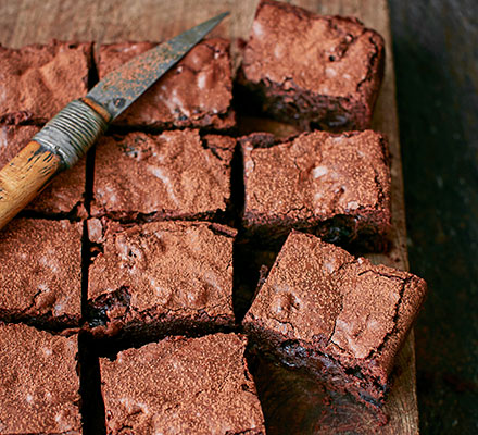 Bourbon, black cherry & bacon brownies