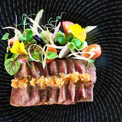 Beef wagyu salad
