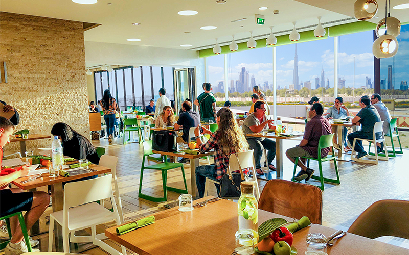 Enjoy Burj Khalifa views at this family-friendly brunch at Eat Well Dubai