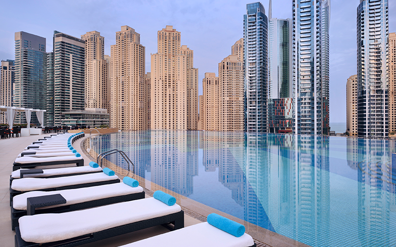 Dip and dine pool day review: Shades, Address Dubai Marina