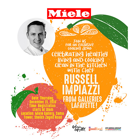 Healthy Eating Food Demo with Chef Russell from Galleries Lafayette at the Miele Gallery